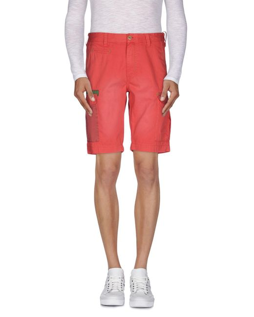 AT.P.CO - Red Bermuda Shorts for Men - Lyst