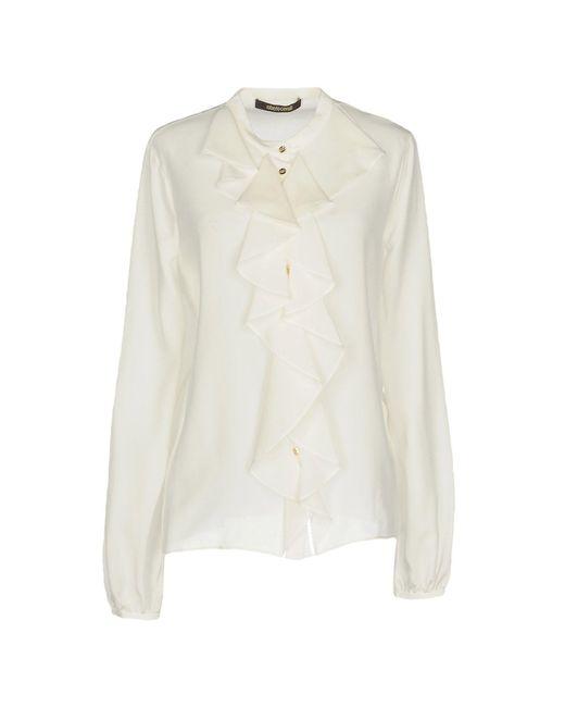 Roberto Cavalli - White Shirt - Lyst