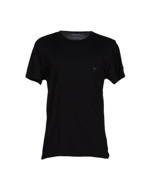 Emporio Armani | Black 3-pack Cotton Crew Neck for Men | Lyst
