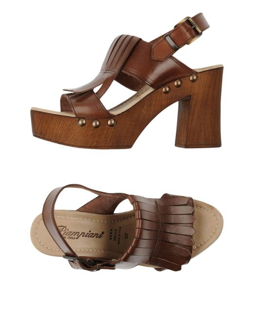 Piampiani - Brown Sandals - Lyst