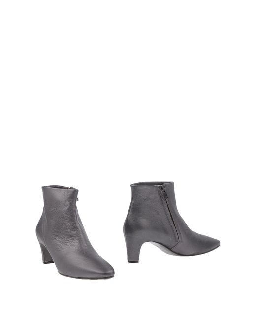Roberto Del Carlo - Gray Ankle Boots - Lyst
