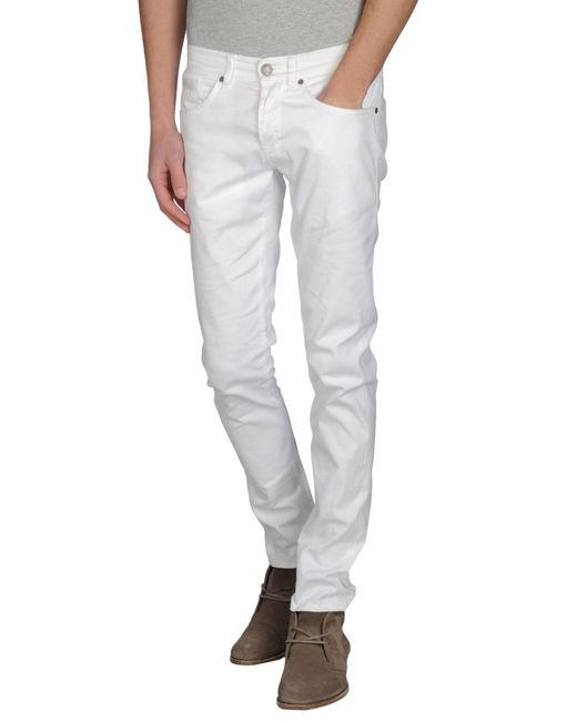 Dondup - White Casual Pants for Men - Lyst