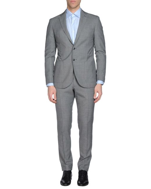 Luigi Bianchi Mantova   Gray Suit for Men   Lyst