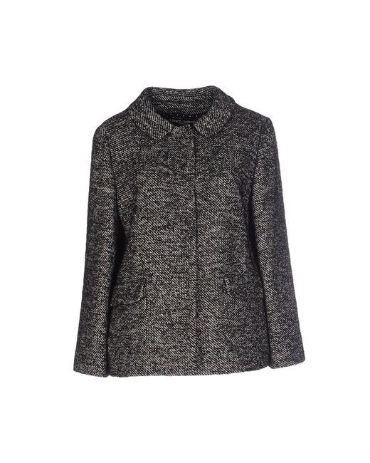 Dolce & Gabbana | Black Floral Brocade Crepe Jacket | Lyst