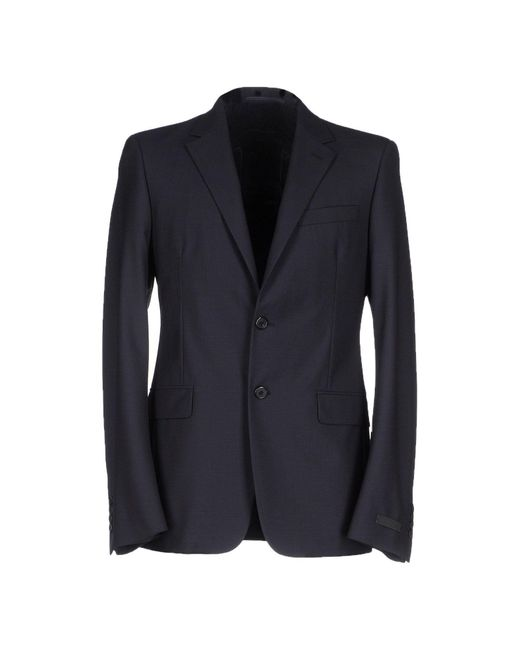 Prada | Blue Blazer for Men | Lyst