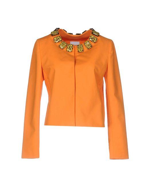 Boutique Moschino | Orange Blazer | Lyst