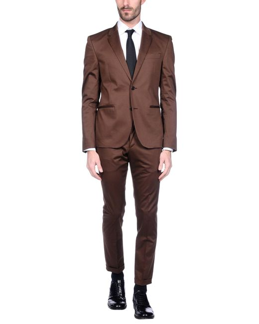 Versace Suit In Brown For Men