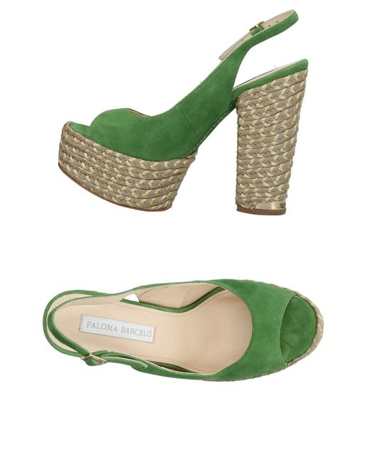 Paloma Barceló - Green Sandals - Lyst