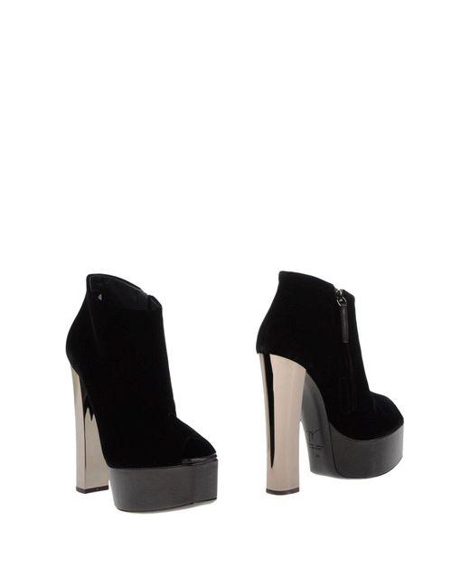 Giuseppe Zanotti - Black Shoe Boots - Lyst