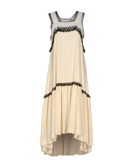 Veronique Branquinho | White 3/4 Length Dress | Lyst