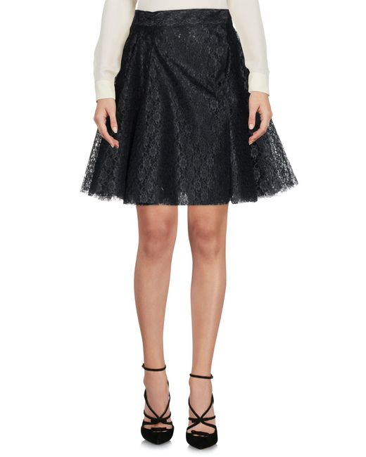 Philosophy Di Lorenzo Serafini - Black Knee Length Skirts - Lyst