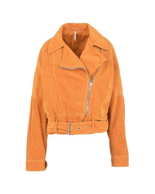 Free People | Orange Jacket | Lyst