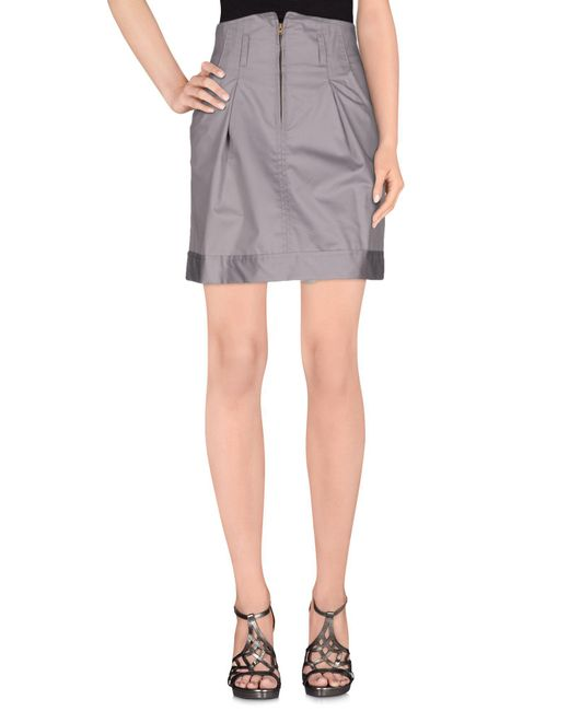 Collection Privée - Gray Knee Length Skirts - Lyst
