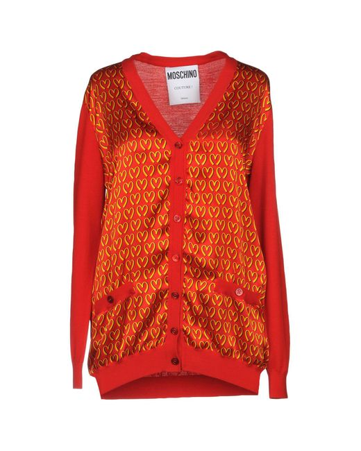 Moschino - Red Cardigan - Lyst