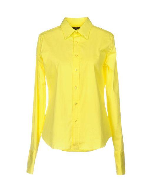 Ralph Lauren Black Label - Yellow Shirt - Lyst