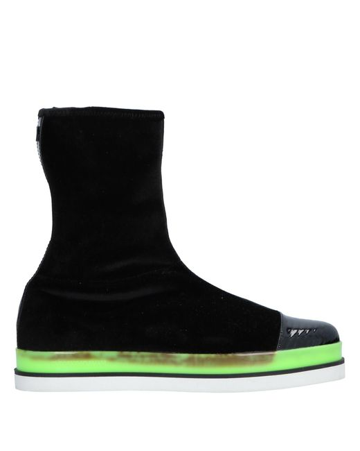 Emporio Armani - Black Ankle Boots - Lyst