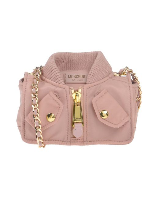 Moschino - Pink Cross-body Bags - Lyst