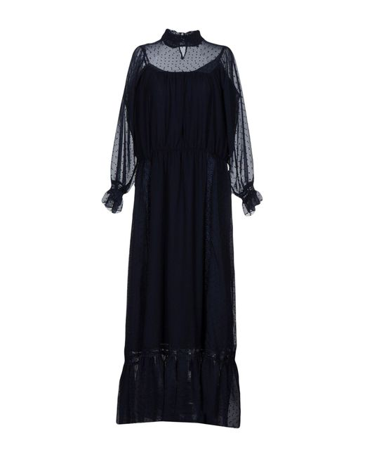 Brigitte Bardot - Blue Long Dresses - Lyst