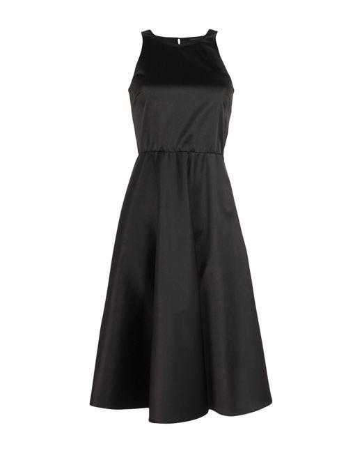 Patrizia Pepe - Black 3/4 Length Dress - Lyst