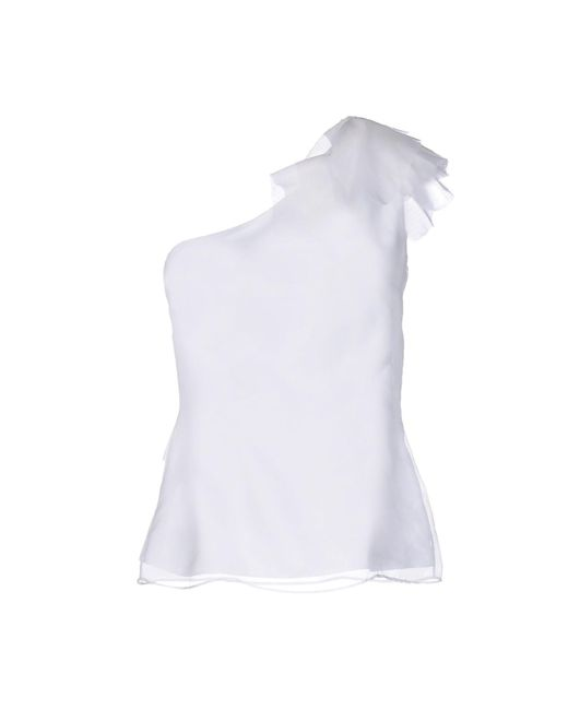 Hanita - White Top - Lyst