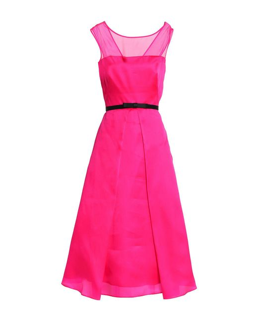 MILLY - Pink 3/4 Length Dress - Lyst