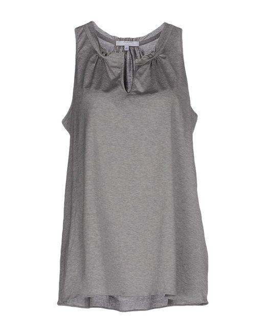 Aglini | Gray T-shirt | Lyst