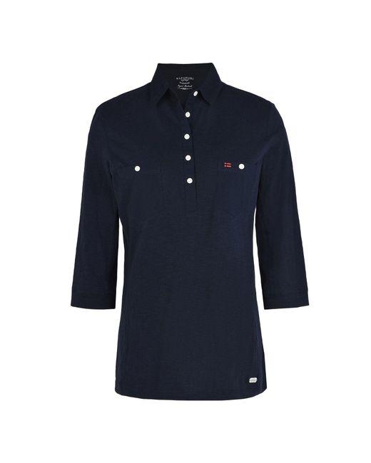 Napapijri | Blue Polo Shirt | Lyst