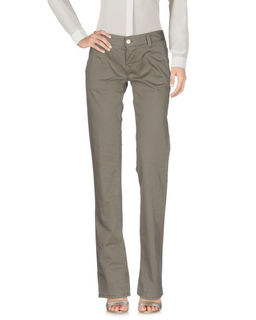 2W2M - Gray Casual Trouser - Lyst