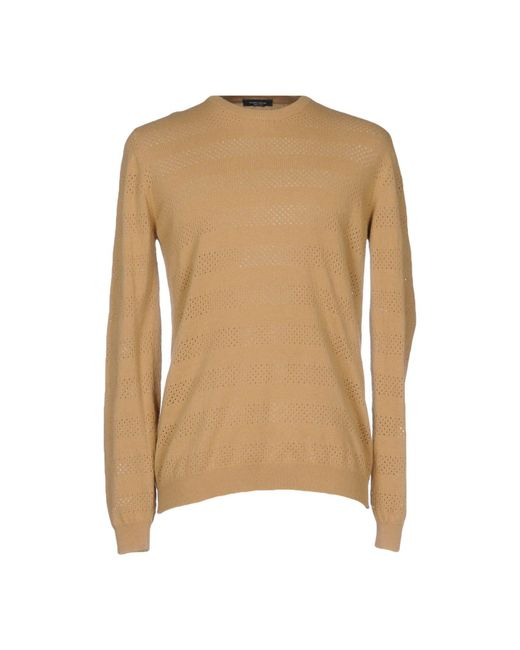 Roberto Collina - Natural Sweater for Men - Lyst