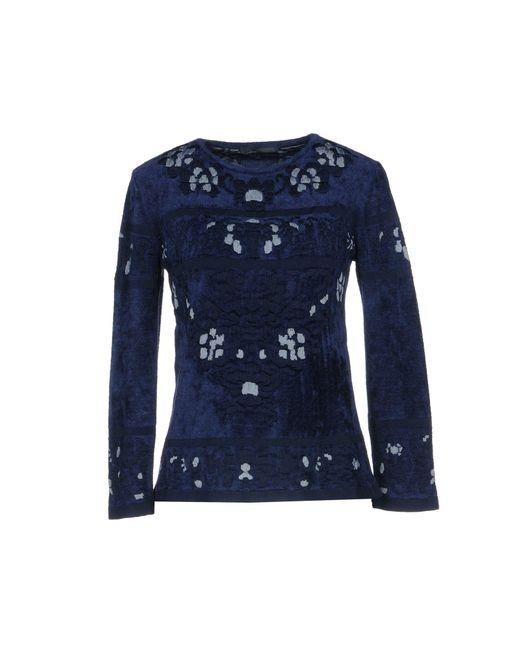 Alberta Ferretti - Blue Jacquard-knit Sweater - Lyst