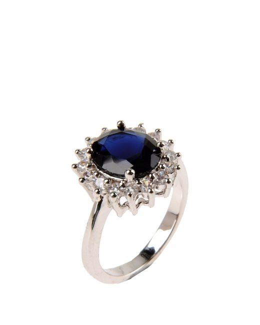 CZ by Kenneth Jay Lane | Blue Ring | Lyst