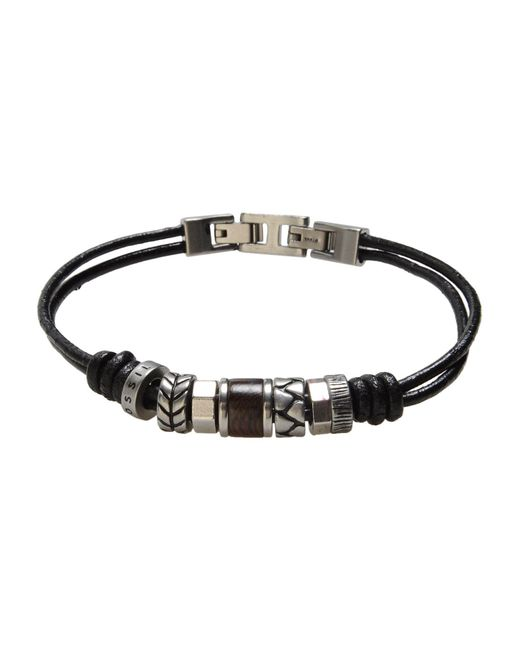 Fossil | Black Bracelet for Men | Lyst