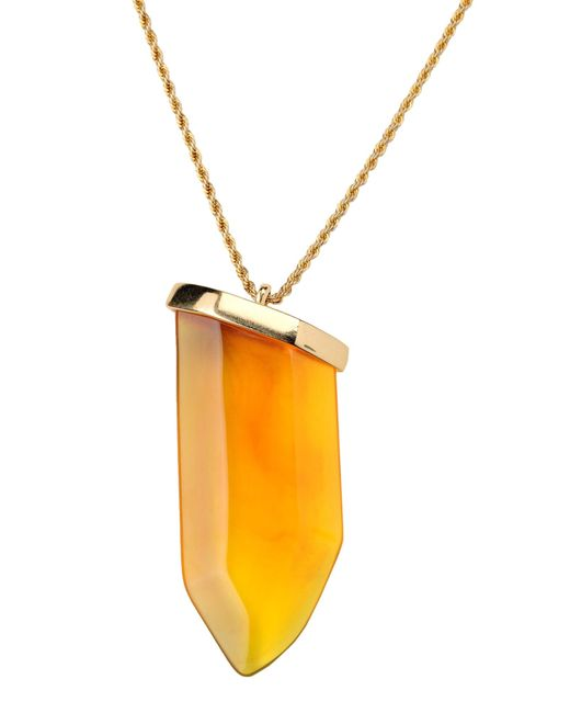 Kenneth Jay Lane | Orange Necklace | Lyst