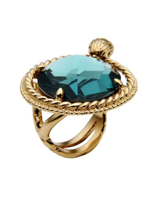 Just Cavalli | Blue Ring | Lyst
