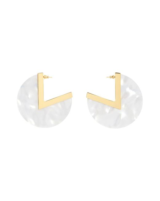 Maria Francesca Pepe | White Earrings | Lyst