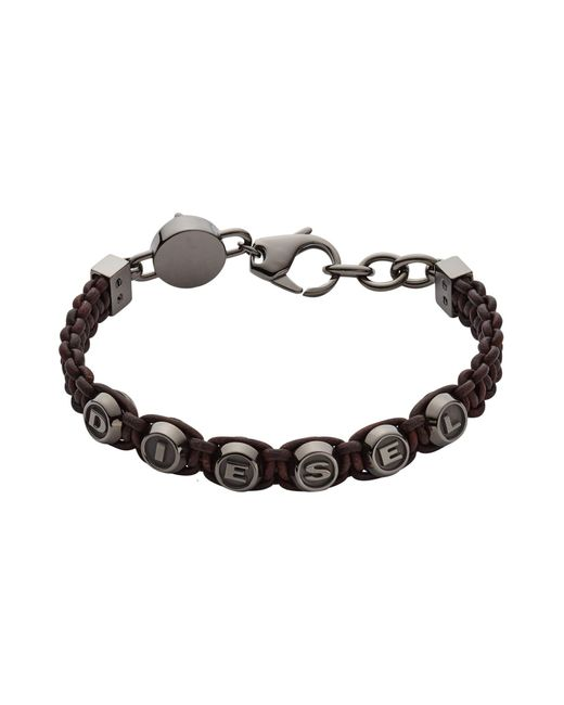 DIESEL | Brown Bracelet for Men | Lyst