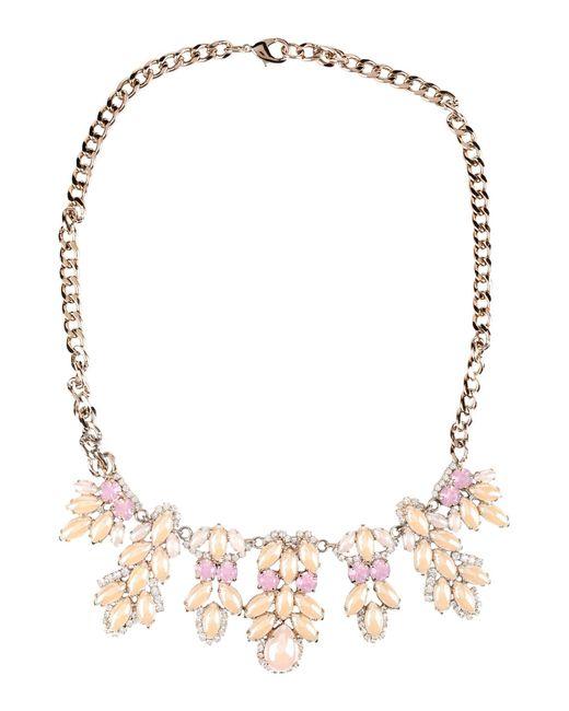 Stefanel | Pink Necklace | Lyst