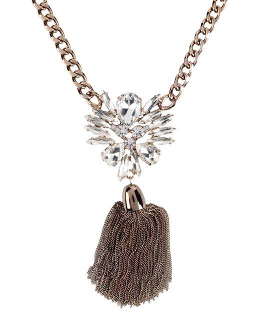 Stefanel   Metallic Necklace   Lyst