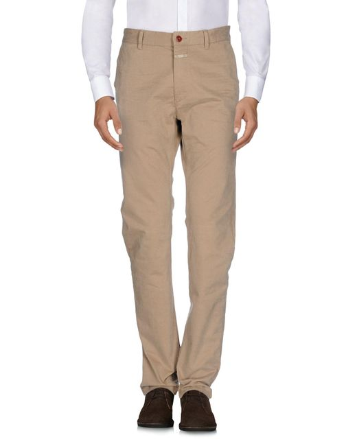 Closed - Natural Casual Trouser for Men - Lyst