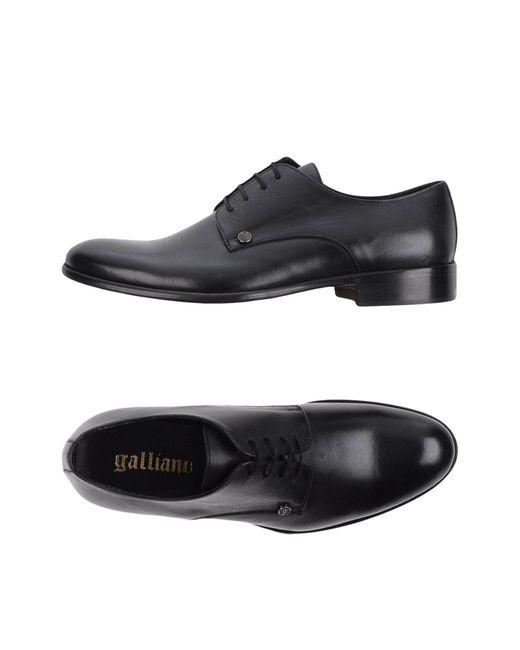 John Galliano - Black Lace-up Shoe for Men - Lyst