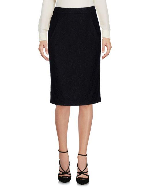 Frankie Morello - Black Knee Length Skirts - Lyst