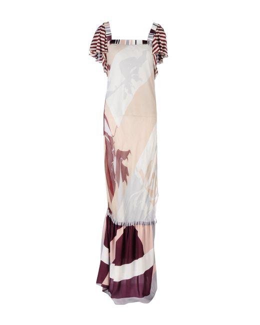 Pianurastudio - Purple Long Dress - Lyst
