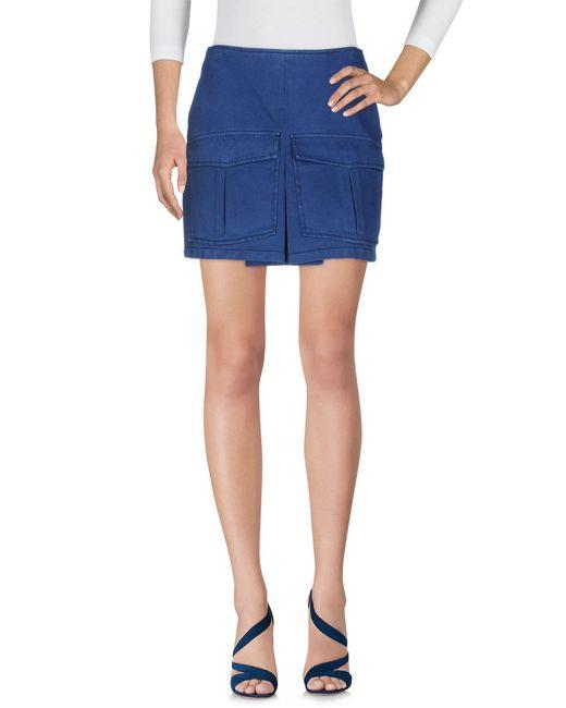INTROPIA - Blue Denim Skirt - Lyst
