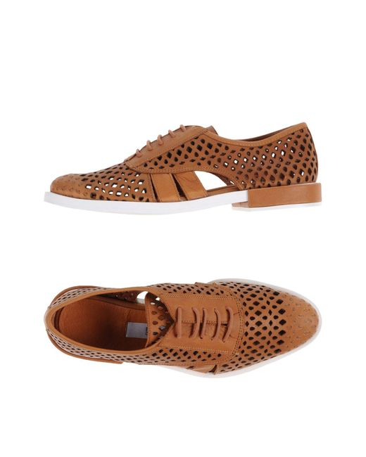 Miista - Brown Lace-up Shoe - Lyst