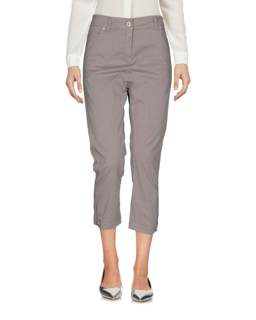 Dondup - Gray 3/4-length Trousers - Lyst