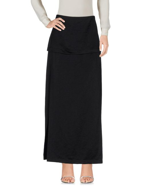 Zero + Maria Cornejo | Black Long Skirt | Lyst