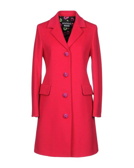Boutique Moschino - Pink Coat - Lyst