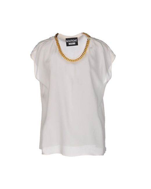 Boutique Moschino - White Blouse - Lyst