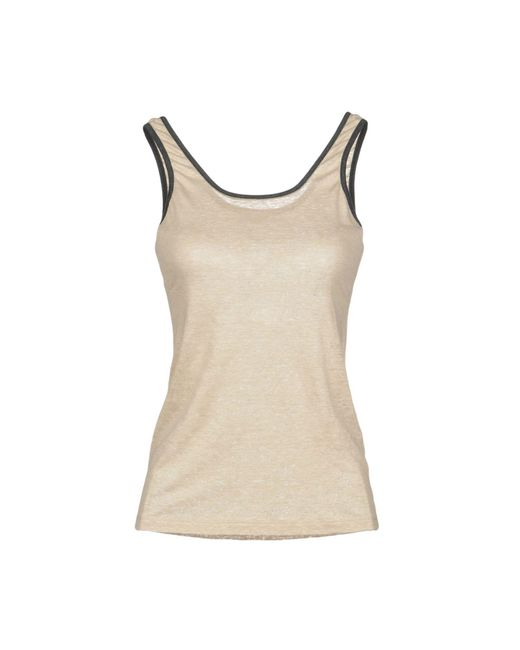 Brunello Cucinelli - Natural Tank Tops - Lyst
