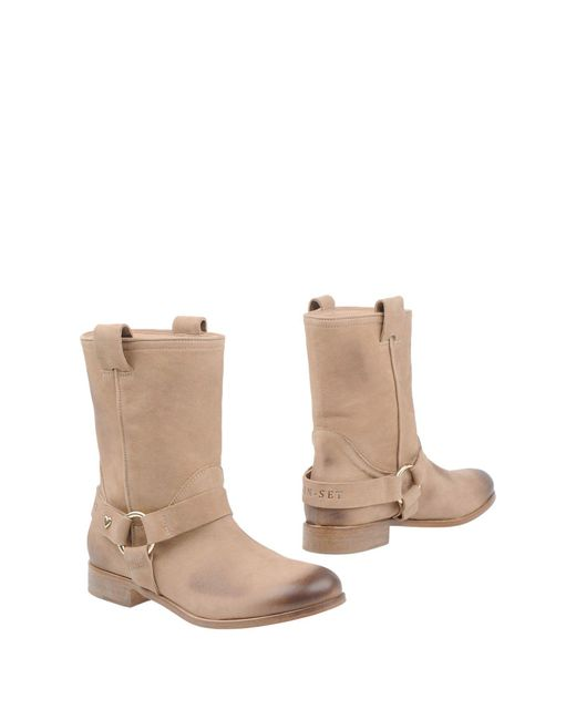 Twin Set - Natural Ankle Boots - Lyst